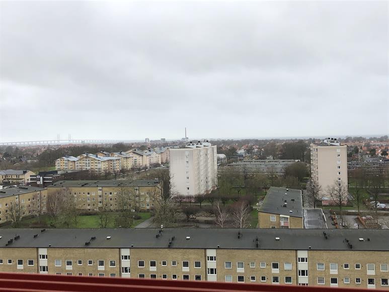 Utsikt över sundet och Öresundbron.