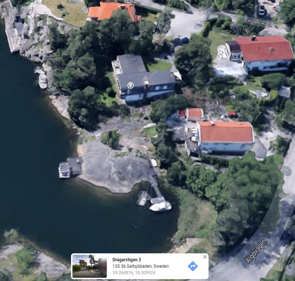 Aerial view of the house (google maps)