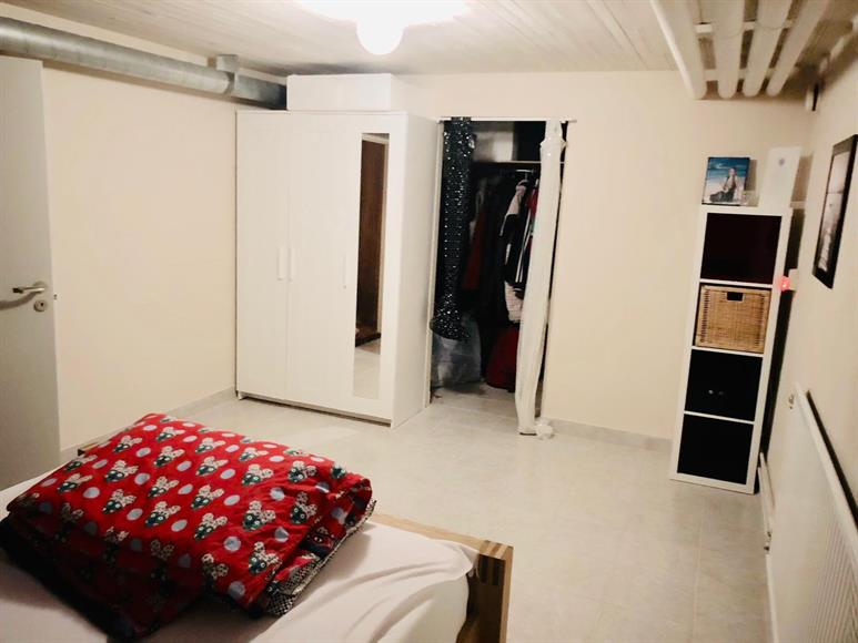 Large Bedroom 4, Lower floor, along with walking Closet