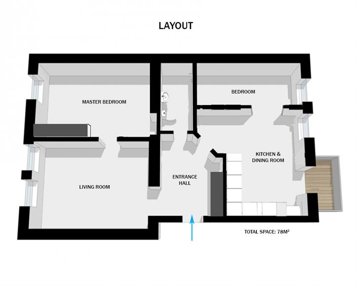 Layout of apartment