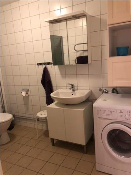 Toalett med tvättmaskin kombinerad med torktumlare