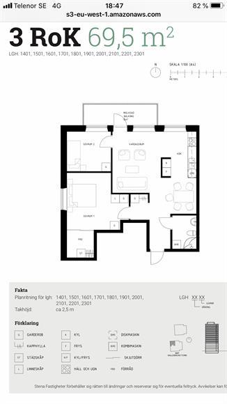 Det stora rummet har en walking closet. Golvvärme finns i badrummet. Lägenheten är helt ny och ingen har bott där.  Visar gärna lägenheten i verkligheten än massa bilder. Öppen planlösning.